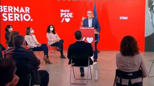Gabilondo, en un acto de campaña.