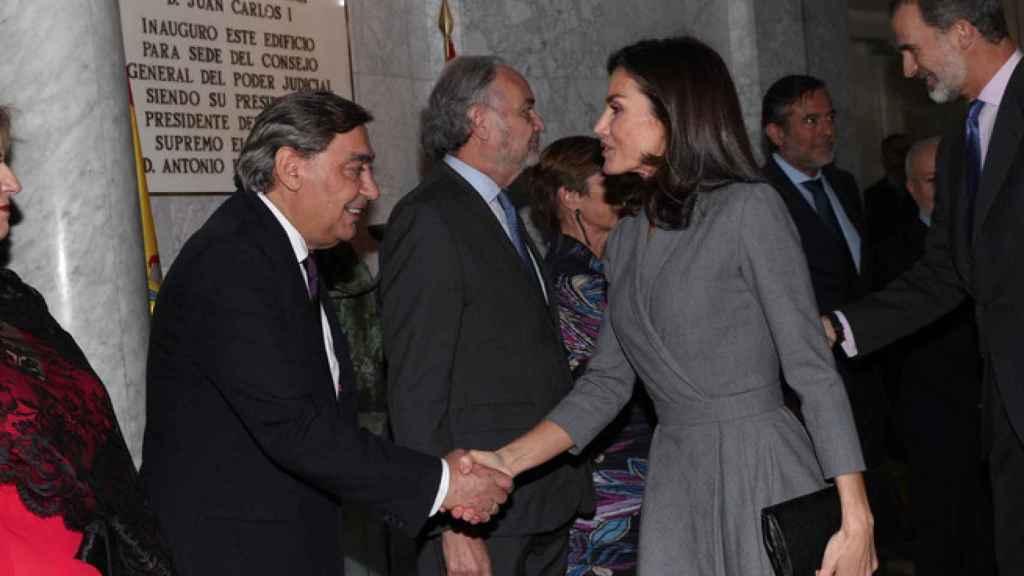 Doña Letizia en el acto en el que recibió su premio del Observatorio contra la Violencia de Género en 2019.