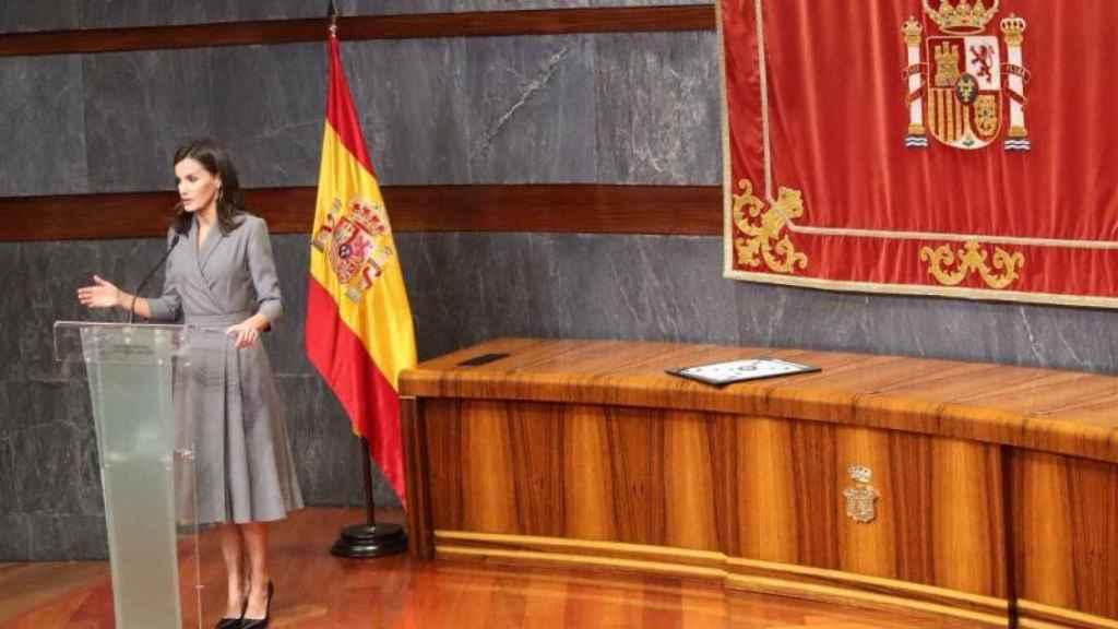 La reina Letizia, en uno de sus discursos sobre violencia de género.
