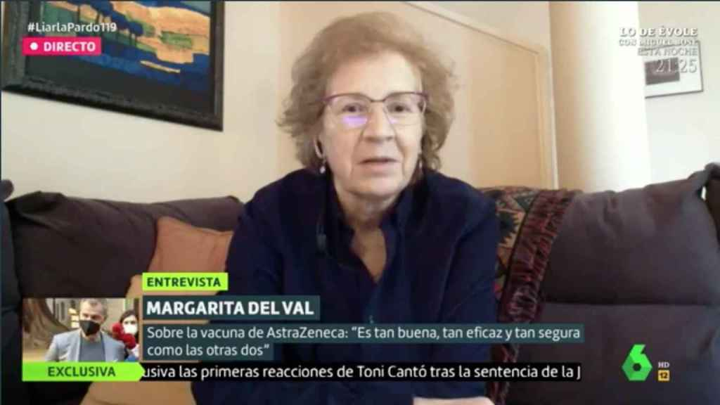 Margarita de Val en el programa 'Liarla Pardo'.