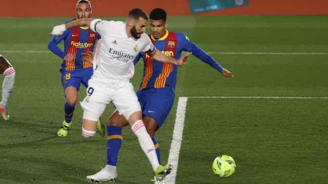 Benzema marca de tacón el primer gol de El Clásico