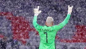 Keylor Navas durante el partido de Champions contra el Bayern