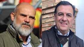 Víctor Sánchez del Real, diputado de Vox por Badajoz, y Juan Antonio Morales, excandidato de Vox a la Junta de Extrermadura.