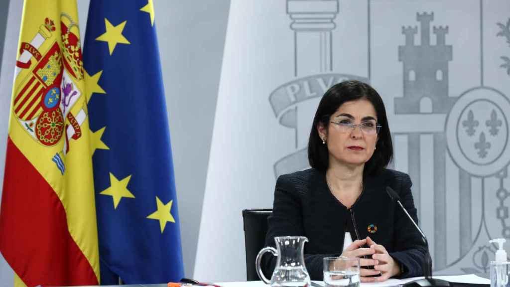 Carolina Darias, ministra de Sanidad, tras la celebración del Consejo Interterritorial de Salud.