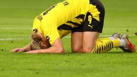 Erling Haaland, durante un partido con el Borussia Dortmund