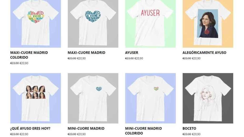 Camisetas a la venta en Ayushop.