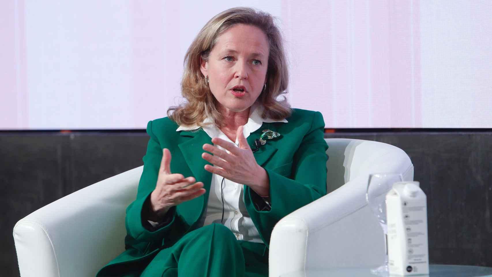 La vicepresidenta económica, Nadia Calviño, en Wake up, Spain!