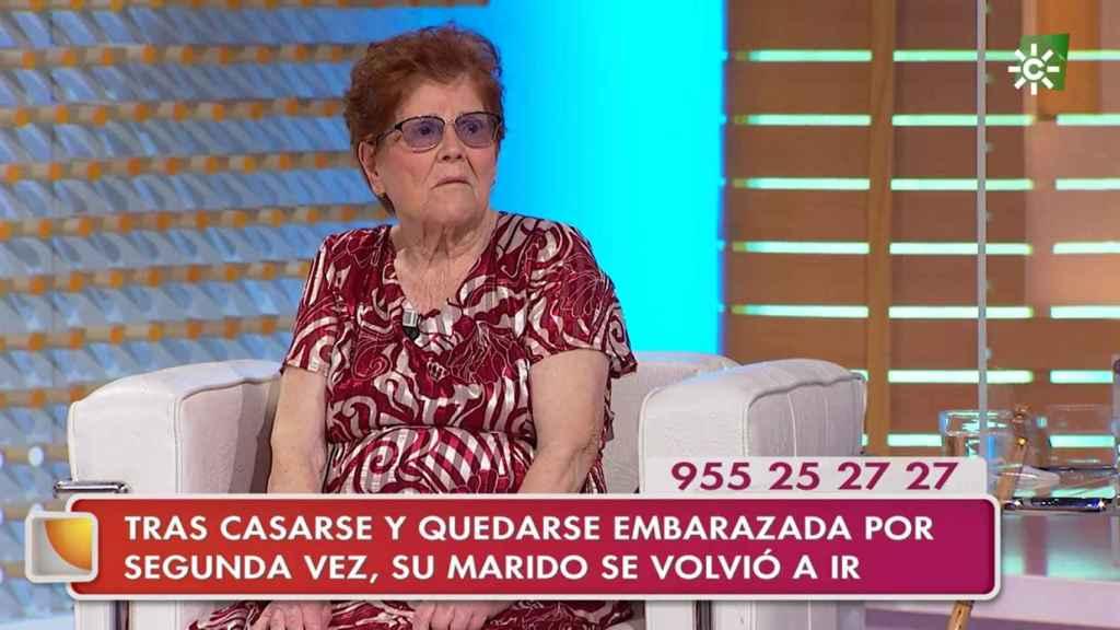 Josefa no ha podido contener la emoción en 'La tarde, aquí y ahora'.