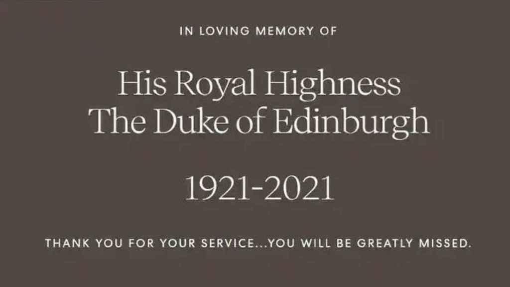 El mensaje que han escrito Meghan y Harry para despedir al duque de Edimburgo.