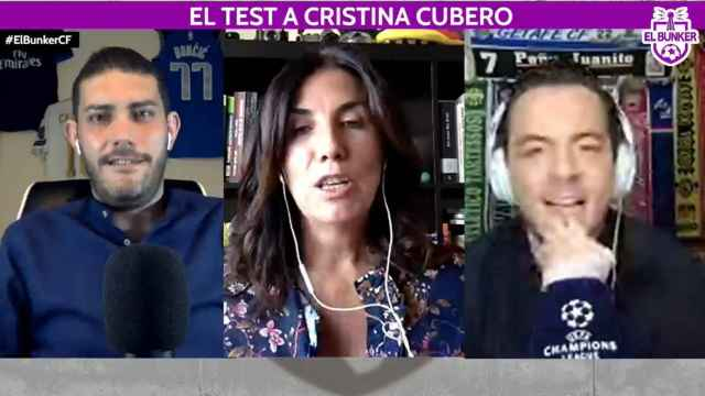 Jorge Calabrés, Cristina Cubero y Nacho Peña, en El Bunker CF
