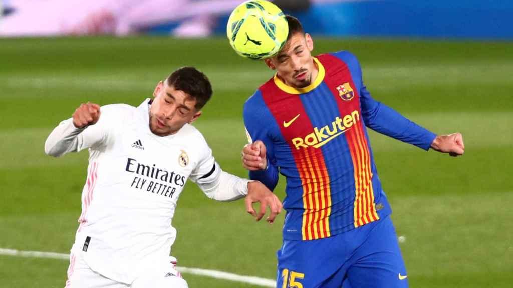 Fede Valverde, durante El Clásico frente al Barça en el Alfredo Di Stéfano