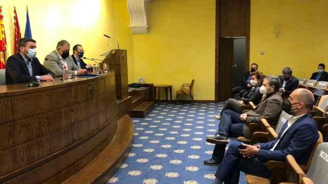 Sesión del Círculo del Agua donde se han acordado movilizaciones en defensa del trasvase.