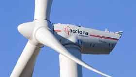 Una turbina de generación eólica de Acciona.
