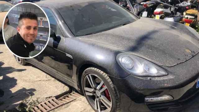 Las autoridades policiales se incautaron de varias propiedades de Sergio G. M., entre ellas su Porsche, que aparece en la imagen.