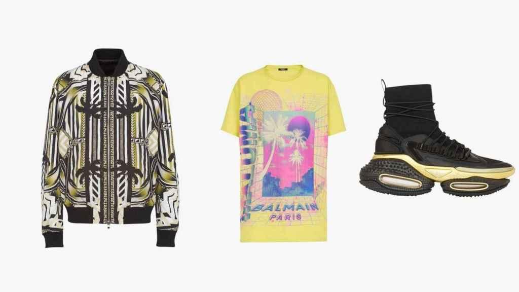 Así son algunas de las prendas y diseños de la colección de Maluma con Balmain.