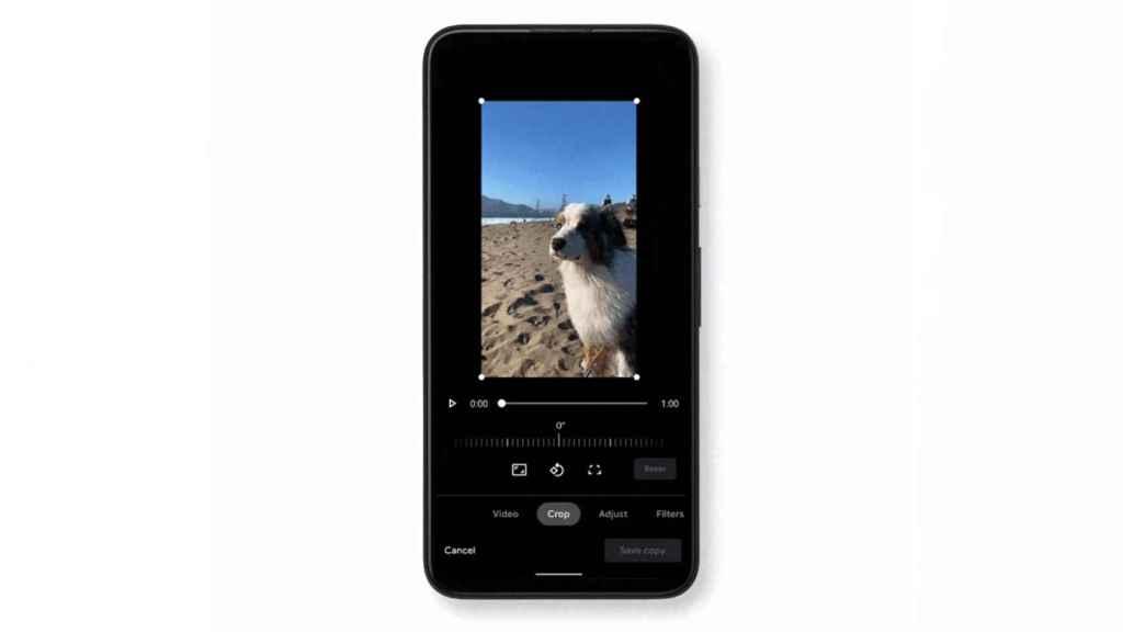 Video editor in Google Photos