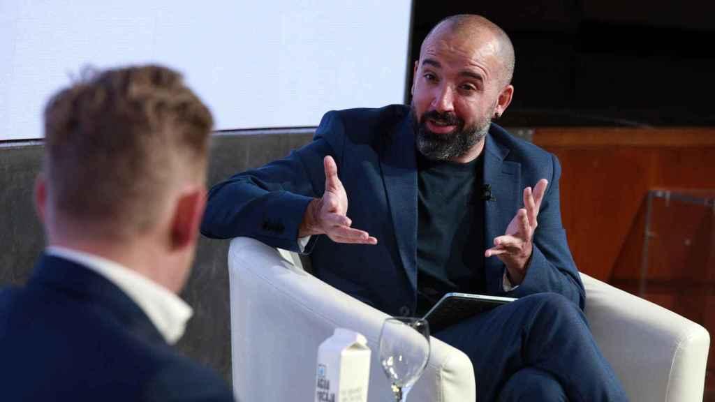 Wayne Griffiths durante la entrevista con Miguel Elizondo en el Wake Up! Spain de El Español.