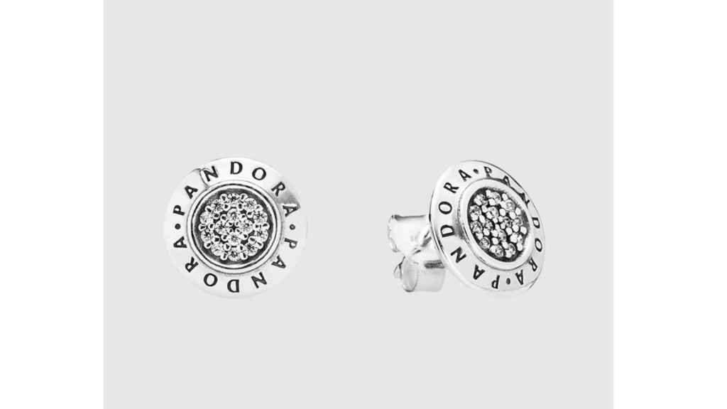 Pendientes Pandora de plata y circonitas