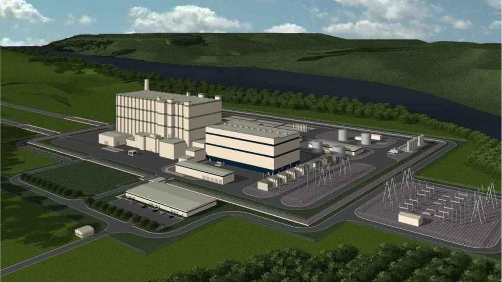 Esquema de planta nuclear de TerraPower