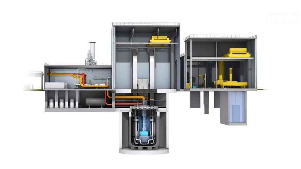 Corte de reactor nuclear