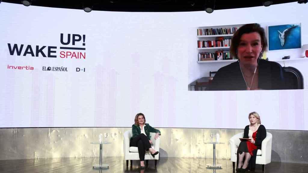 Teresa Ribera y Marina Mazzucato conversan en Wake Up, Spain! con la periodista Laura Ojea.