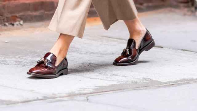 Un ejemplo de calzado vintage en una imagen de archivo.