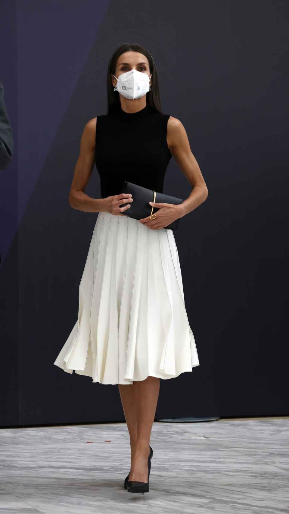 El 'outfit' de la Reina para su audiencia de este martes.