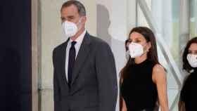 Los reyes, Felipe y Letizia, llegando a Ifema tras la audiencia en Zarzuela con el embajador de Reino Unido.