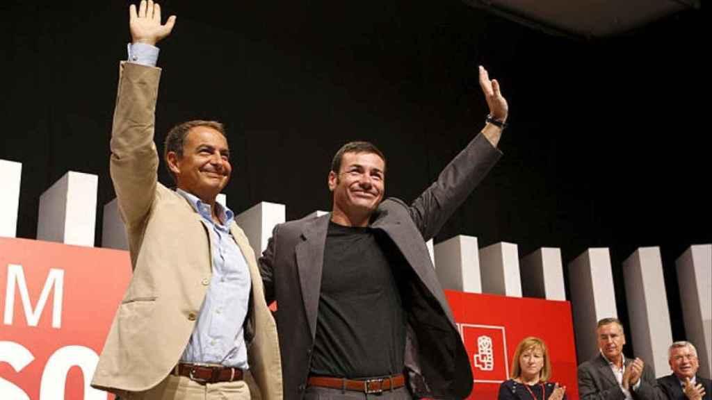 Zapatero y Tomás Gómez, en una imagen de 2007.