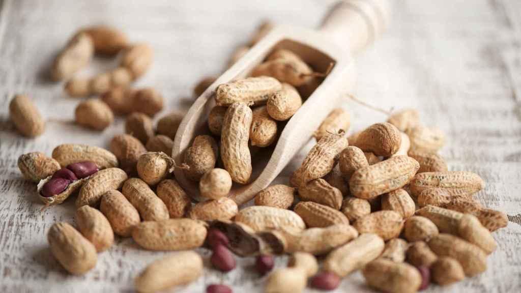 Cacahuetes al natural.