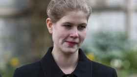Louise Mountbatten-Windsor, durante el servicio religioso en memoria del duque de Edimburgo.