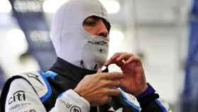 Fernando Alonso, con el mono de Alpine