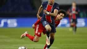 Kylian Mbappé y Leroy Sané, durante el PSG - Bayern Múnich de la Champions League 2020/2021