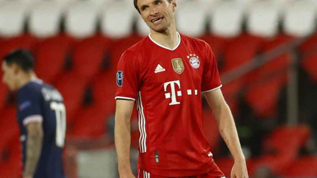 Thomas Müller, en un partido del Bayern Múnich de la Champions League 2020/2021