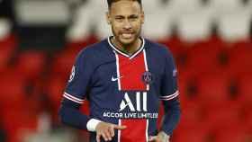 Neymar Júnior, en un partido del PSG en la temporada 2020/2021