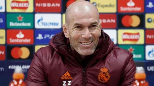 Zinedine Zidane, en rueda de prensa previa de la Champions League