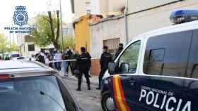 Despliegue policial durante el registro domiciliario realizado en El Cerrico