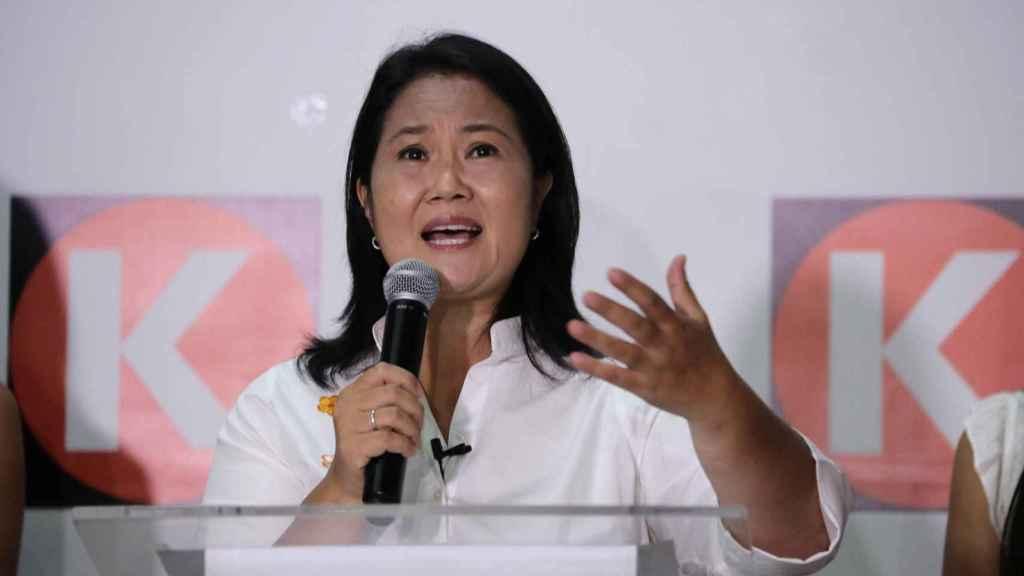 La candidata a la presidencia del Perú por el partido Fuerza Popular, Keiko Fujimori.