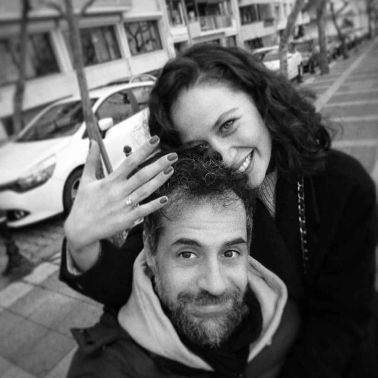 İlayda Çevik with her partner in an image on her Instagram account.