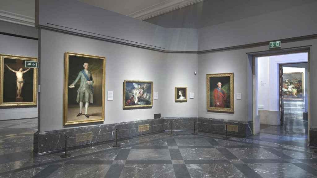 La obra 'Aníbal vencedor, que por primera vez mira a Italia desde los Alpes'  expuesta en la sala 35 del edificio Villanueva.