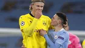 Erling Haaland, durante el partido contra el Manchester City en la Champions League
