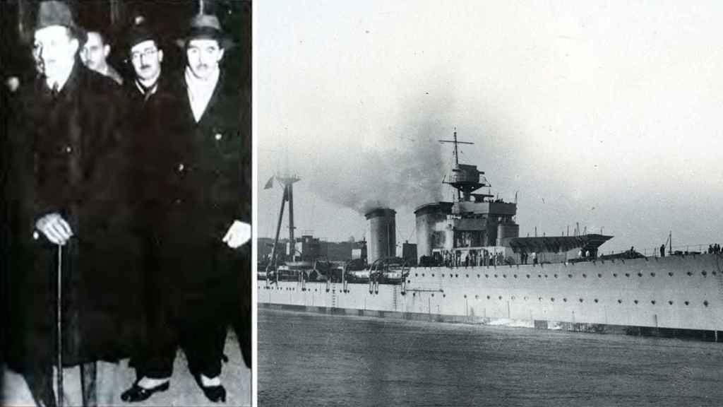 Crucero Príncipe Felipe en el que Alfonso XIII partió rumbo al puerto de Marsella.