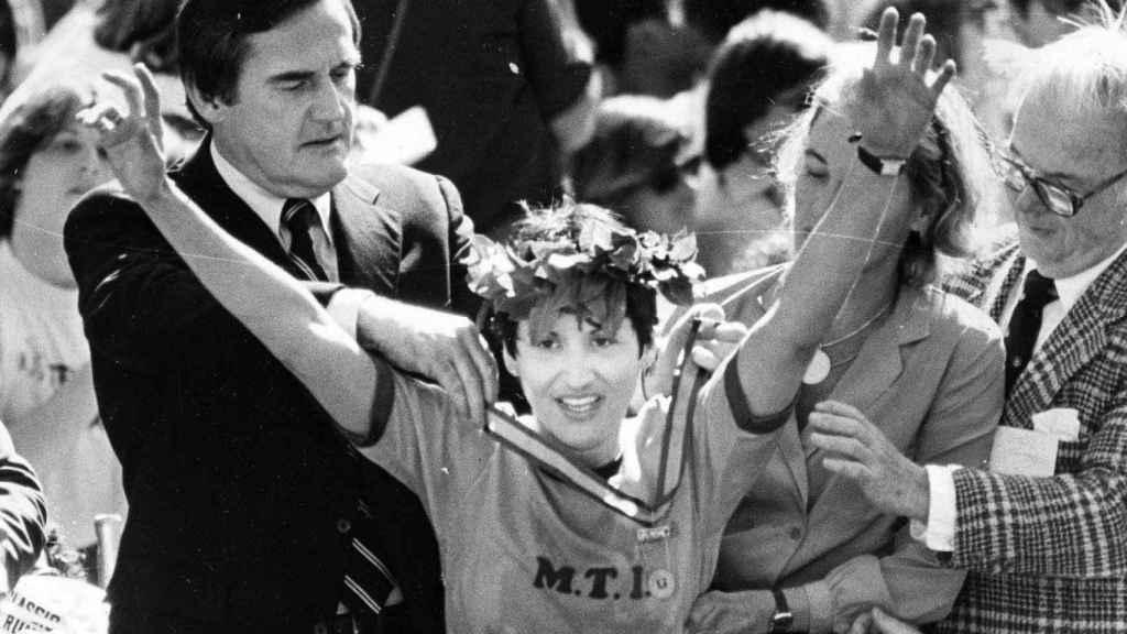Rosie Ruiz, tras ganar la Maratón de Boston
