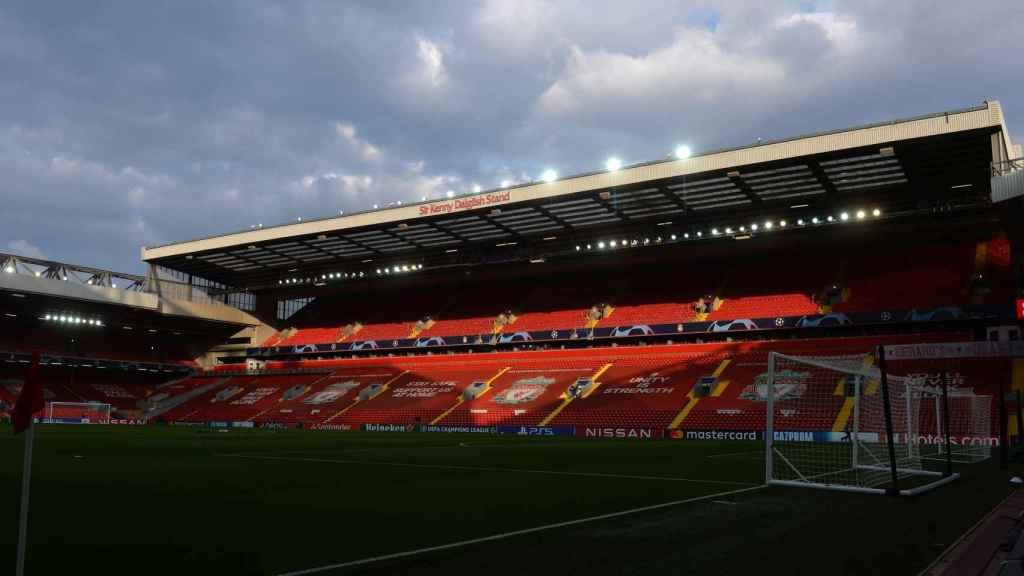 Anfield antes del duelo ante el Real Madrid