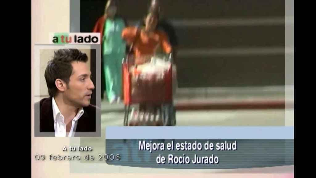 Antonio David hablando de lo mucho que le afecta el estado de salud de Rocío Jurado.