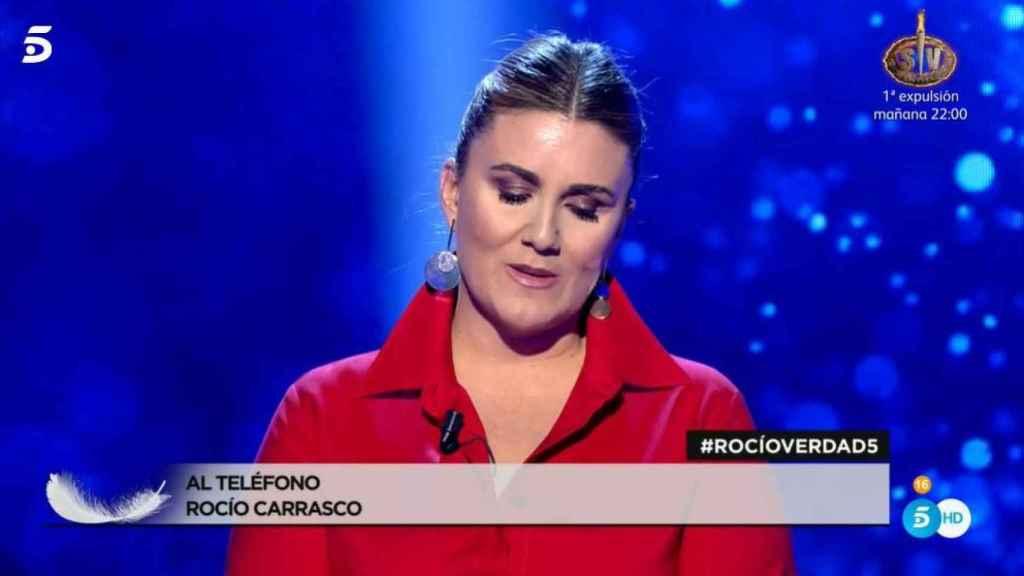 Rocío Carrasco llamando en directo al programa.