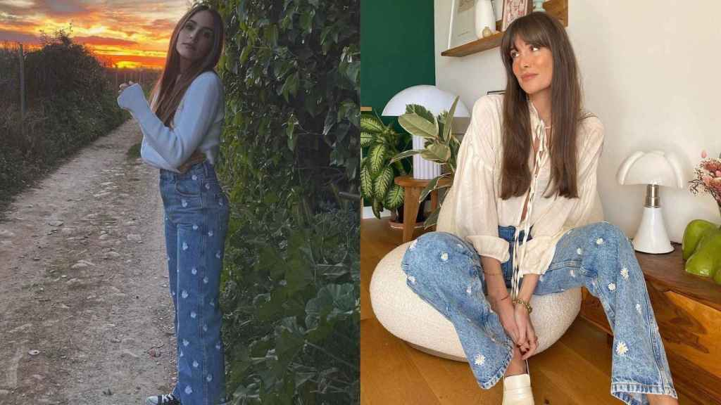 La 'influencer' Rocío Osorno y Julie Sergent lucen el pantalón de Sandro en su Instagram.