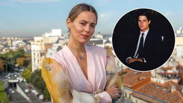 Claudia Osborne junto a José Entrecanales en un montaje de JALEOS.