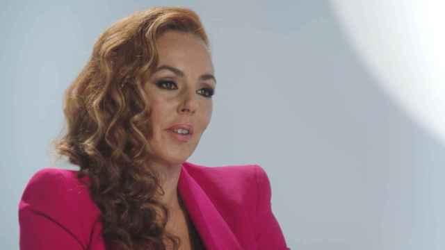 Rocío Carrasco durante la grabación del episodio 7 de 'Rocío: contar la verdad para seguir viva'.