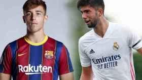 Nico González y Theo Zidane, en un fotomontaje